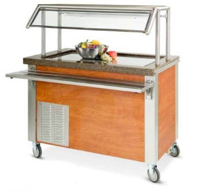 "Dinex DXDFT4 63"" Frost Top Refrigerated Counter for (4) 12 x 20 x 1"", 120V"