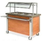 "Dinex DXDHF2 240 35"" Hot Food Counter w/ 2-Wells, Thermostatic Controls, Open Base, 240 V"