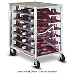 Dinex DXDHOR24RSTCV2 Vinyl Cart Cover w/ Zipper Front & Rear Panel, For DXDHOR20RST, Clear