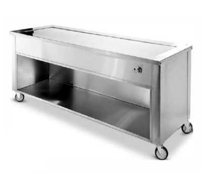 "Dinex DXDHT6 91"" Hot Top Counter w/ 6-Well, Open Cabinet, Stainless, 120 V"