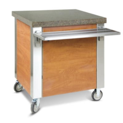 "Dinex DXDST3 49"" Solid Top Counter w/ 16-ga Stainless Top, 18-ga Sides & Ends"