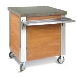 "Dinex DXDST6 91"" Solid Top Counter w/ 16-ga Stainless Top, 18-ga Sides & Ends"