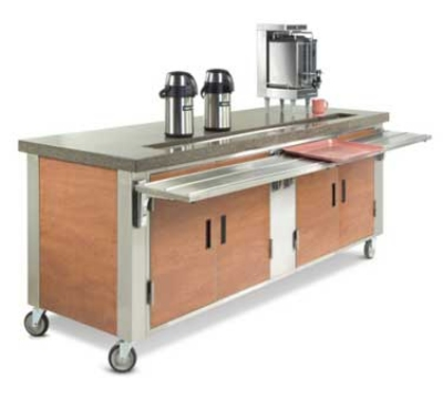"Dinex DXDUS4 63"" Beverage Counter w/ Urn Trough, Stainless"