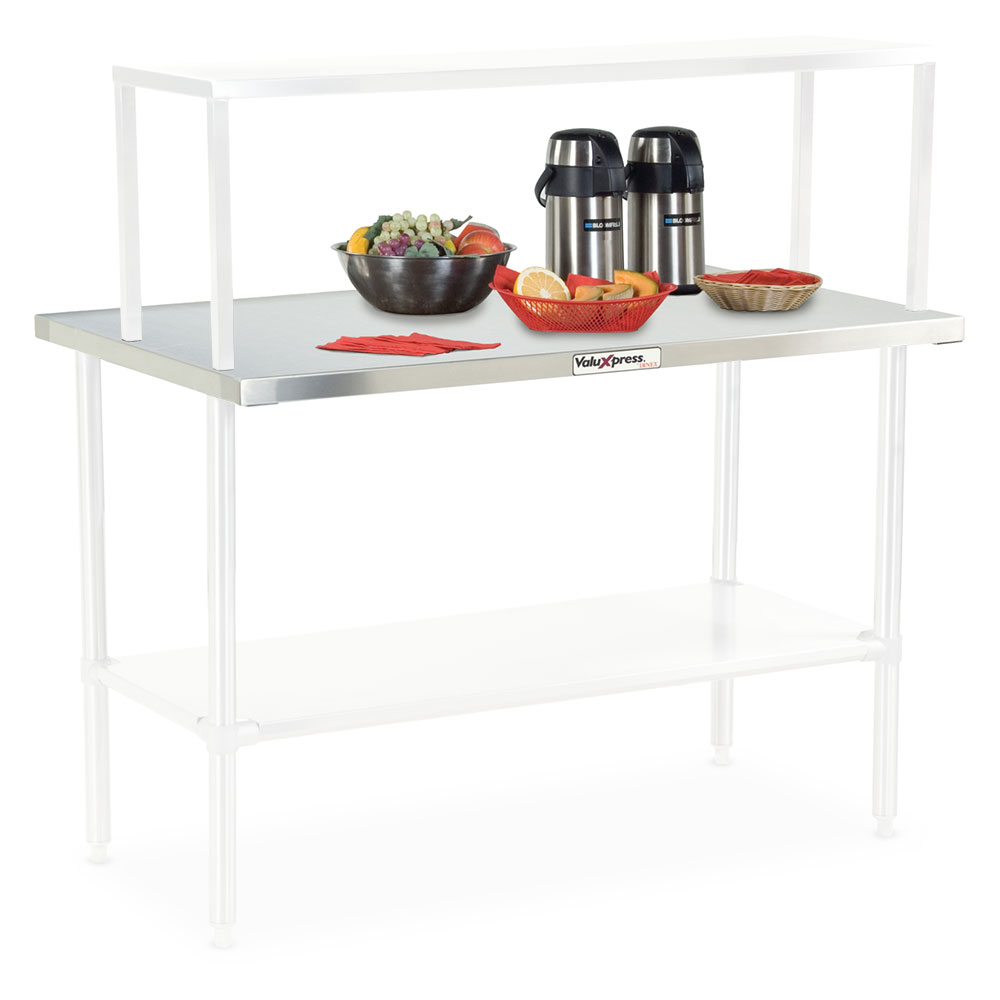 "Dinex DXDVLST2 35"" Solid Top Counter w/ Turn Down Edges, Stainless"