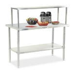 "Dinex DXDVLST3 49"" Solid Top Counter w/ Turn Down Edges, Stainless"