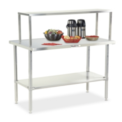 Dinex DXDVLST3 49-in Solid Top Counter w/ Turn Down Edges, Stainless
