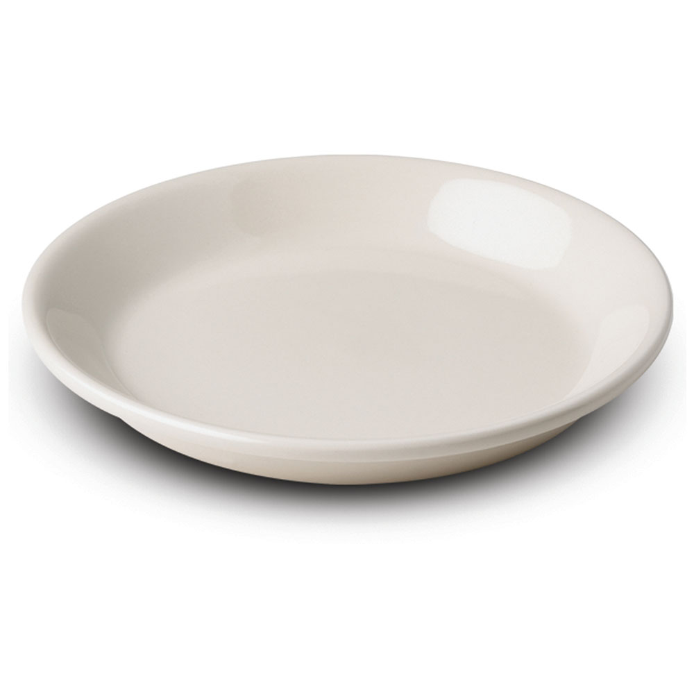 """Dinex DXHHC1002 7.75"""" Perfect-Temp High Heat Entree Plate, White"""