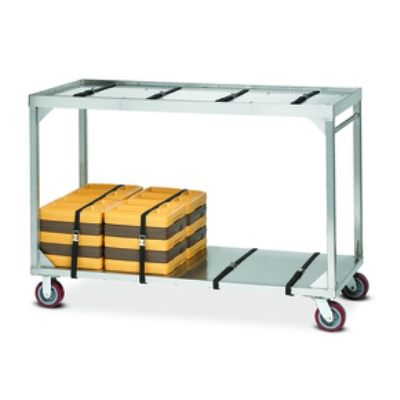 Dinex DXICSTO84 Heavy Duty X-Long Stacking Cart w/ 72-84 Insulated Tray Capacity