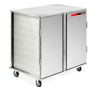 Dinex DXICT282D Double Enclosed Tray Delivery Cart w/ 28 Tray Capacity, Pull Door