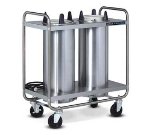 "Dinex DXIDP3O0912 9-1/8"" Open Tube Plate Dispenser w/ 150 Plate Or 108 Bowl Capacity"