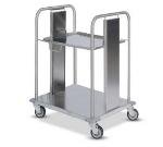 Dinex DXIDRS1020 Open Mobile Rack Dispenser w/ Self-Leveling for 10 x 20""