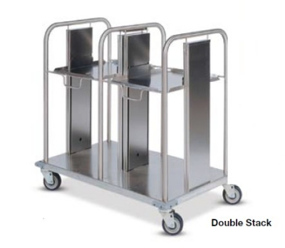 Dinex DXIDT2S1520 Double Open Mobile Tray Dispenser w/ 300 Tray Capacity, 15 x 20-in