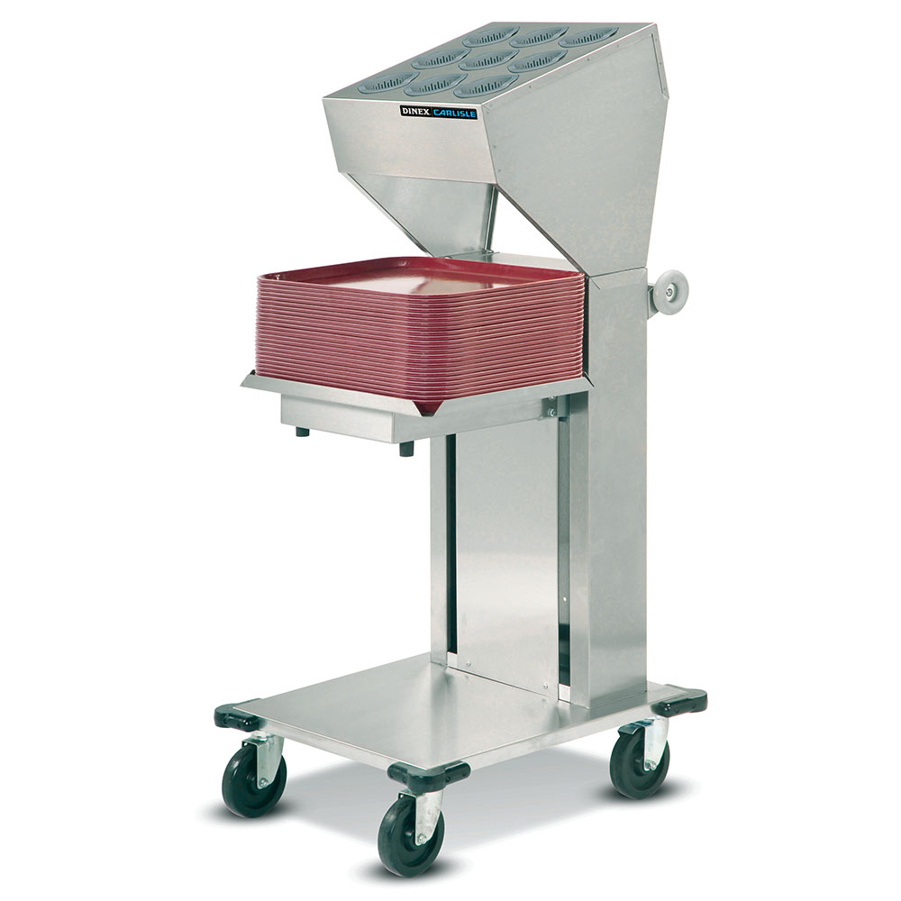 """Dinex DXIDTS1C1418 Cantilever Single Tray & Silverware Dispenser w/ 10-Cylinder, 14 x 18"""""""