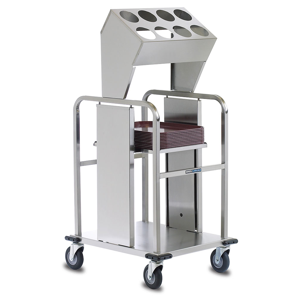 """Dinex DXIDTS2S1418 Open Double Tray Silverware Dispenser w/ 8-Cylinder, 14 x 18"""""""