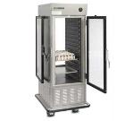 "Dinex DXIRAC15PT 31.5"" Single Section Air Curtain Pass-Thru Refrigerator, (1) Glass Door, 120v"