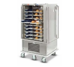 "Dinex DXMOC20 2-Door Hot Cold Meal Delivery Cart for (20) 23 x 13.5"" Trays, 120 V"