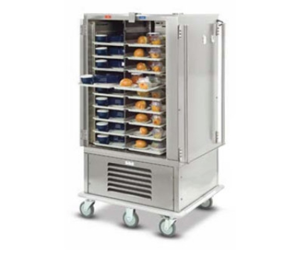 Dinex DXMOC20 2-Door Hot Cold Meal Delivery Cart, For (20) 23 x 13.5-in Trays, 120 V