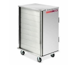 Dinex DXMOC20RC Enclosed Tray Retrieval Cart w/ Fixed Slides, Recessed Door Pull