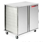 Dinex DXPSCPT242D 2-Door Enclosed Pass Thru Tray Delivery Cart w/ 24 Tray Capacity