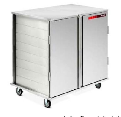 Dinex DXPSC282D 2-Door Enclosed Tray Delivery Cart w/ 28-Tray Capacity, Drop Latch