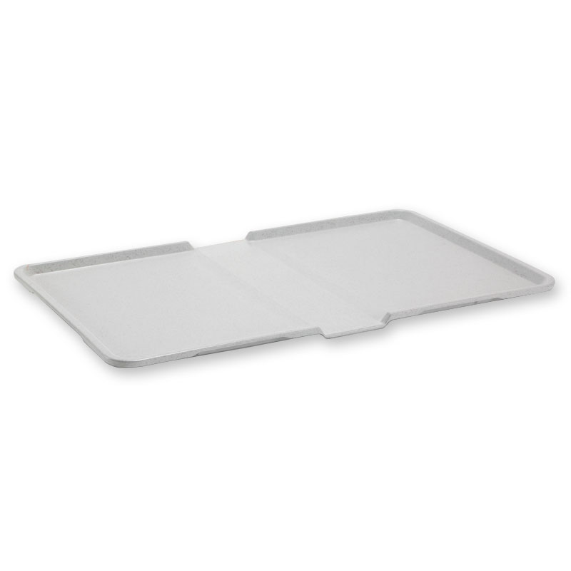 "Dinex DXSC1531002 Thermal-Aire Patient Tray, 12 x 21"", Light Yellow"