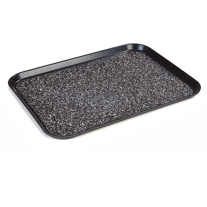 "Dinex DXSMC1520NSM03 Non-Skid Cafeteria Tray - Fiberglass, 15x20"", Black"
