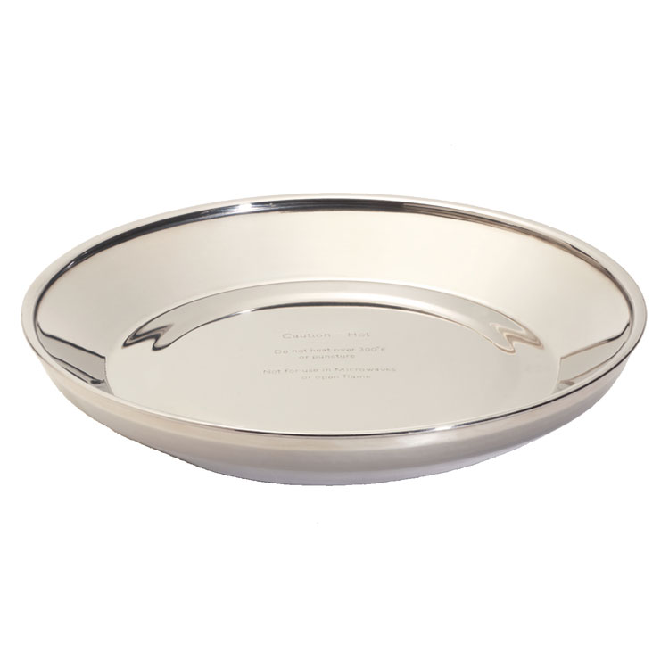 """Dinex DXTMP1097A 9/5"""" Wax Base for 9"""" china plates, Stainless Steel"""