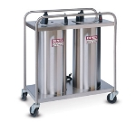 "Dinex DXIDP2O1012 10-1/8"" Open Tube Plate Dispenser w/ 100 Plate Or 72 Bowl Capacity"