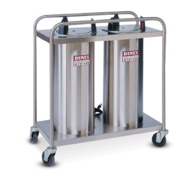 "Dinex DXIDP2O0912 9-1/8"" Open Tube Plate Dispenser w/ 100 Plate Or 72 Bowl Capacity"