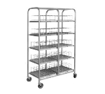 "Dinex DXIRDSD7120 Dome Storage Cart w/ Wash Racks for 7"" Covers, 120 Capacity"