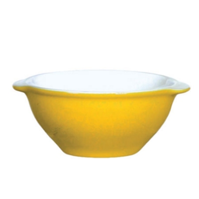 Emile Henry 032100 EA 19-oz Ceramic Gratin Bowl, Two-Tone, Citron Yellow