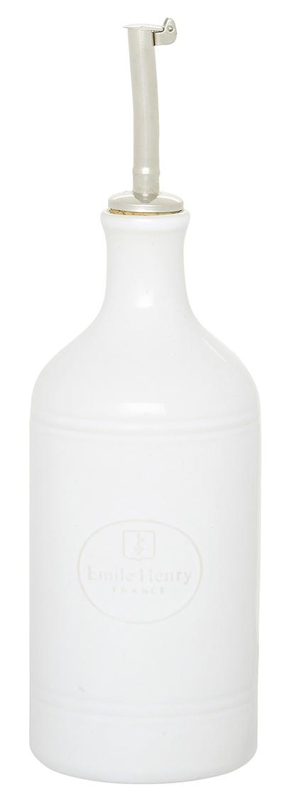 Emile Henry 050215 EA Ceramic Oil Cruet, Blanc White