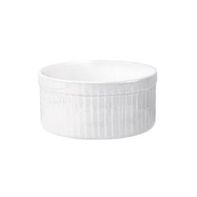 Emile Henry 051001 EA 8-oz Ceramic Souffle Dish, Blanc White