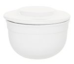 Emile Henry 058621 EA Ceramic Butter Pot With Lid, 4-in Round, Blanc White