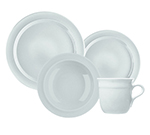 Emile Henry 0588073 Dinnerware Set - (1) Cereal Bowl, (1) Salad Plate & (1) Dinner Plate, Blanc