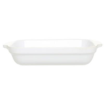 Emile Henry 059630 2-1/2 qt Ceramic Lasagna Dish, 12 x 8-1/2 in, Blanc White