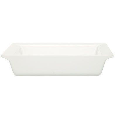 Emile Henry 112004 EA Ceramic Square Dish, 10-in Round, Nougat White