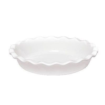 """Emile Henry 116131 9"""" Round Ceramic Pie Dish w/ 1.4-qt Capacity, Flour"""
