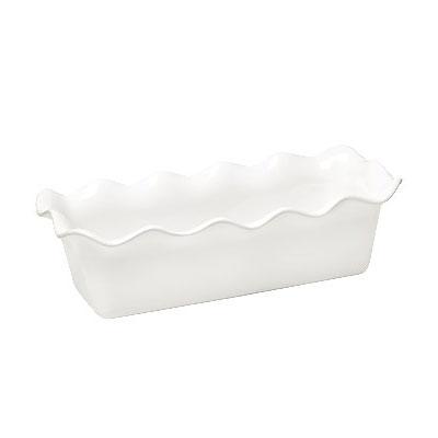 "Emile Henry 116387 2-qt Ceramic Loaf Pan, 12.5x6"", Flour"