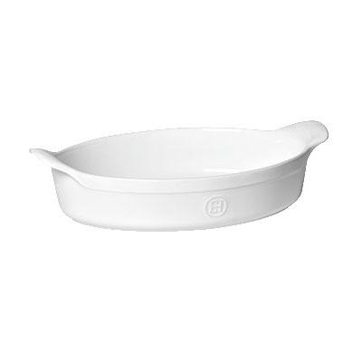 "Emile Henry 119042 13.5"" Oval Ceramic Au Gratin Dish w/ 2.7-qt Capacity, Flour"