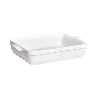 "Emile Henry 119644 6.3-qt Ceramic Baking Dish, 16.75x11x3"", Flour"