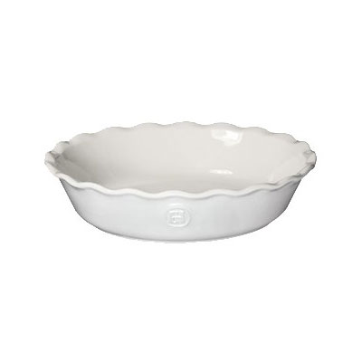 """Emile Henry 236121 9"""" Round Ceramic Pie Dish w/ 1.7-qt Capacity, Sugar"""