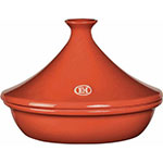 "Emile Henry 325626 10.6"" Round Tangine w/ 2.1-qt Capacity, Terracotta"