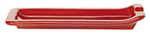 Emile Henry 330261 Ceramic Spoon Rest, 8.75 x 4-in, Cerise Red