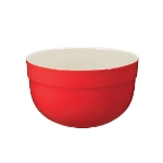 Emile Henry 336524 8.4-in Ceramic Medium Mixing Bowl, Two-Tone, Cerise Red