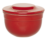 Emile Henry 338621 EA Ceramic Butter Pot With Lid, 4-in Round, Cerise Red