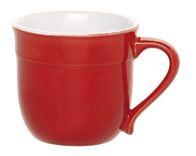 Emile Henry 338714 14 oz Ceramic Mug, Cerise Red