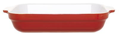 Emile Henry 339632 3-4/5 qt Ceramic Lasagna Dish, 13 x 10 in, Two-Tone, Cerise Red