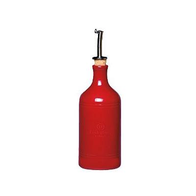 "Emile Henry 340215 7"" Ceramic Oil Cruet w/ 14-oz Capacity, Burgundy"