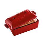 """Emile Henry 345504 2.1-qt Ceramic Loaf Pan, 9.5x6x4.5"""", Burgundy"""